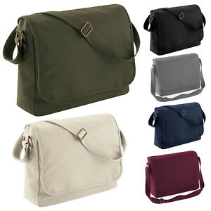 BagBase Classic Canvas Messenger