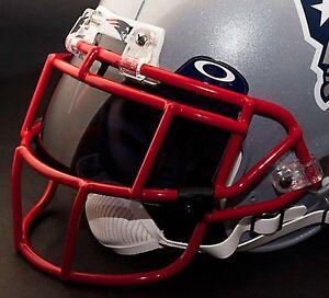 NEW-ENGLAND-PATRIOTS-NFL-Schutt-EGOP-Football-Helmet-Facemask-Faceguard-RED