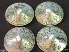 """BELLY DANCE ZILLS HIGH QUALITY 2"""" FINGER CYMBALS HAND MADE ENGRAVED BRASS 4 PCS"""