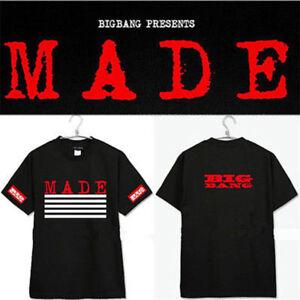 77f2c29288f KPOP Bigbang G-Dragon Tshirt MADE Concert T-shirt GD Cotton Tee VIP ...