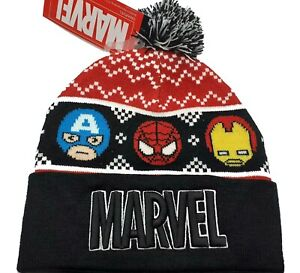 Marvel Comics Punisher Winter Knitted Hat Beanie Kids Embroidered Logo LOGOSHIRT