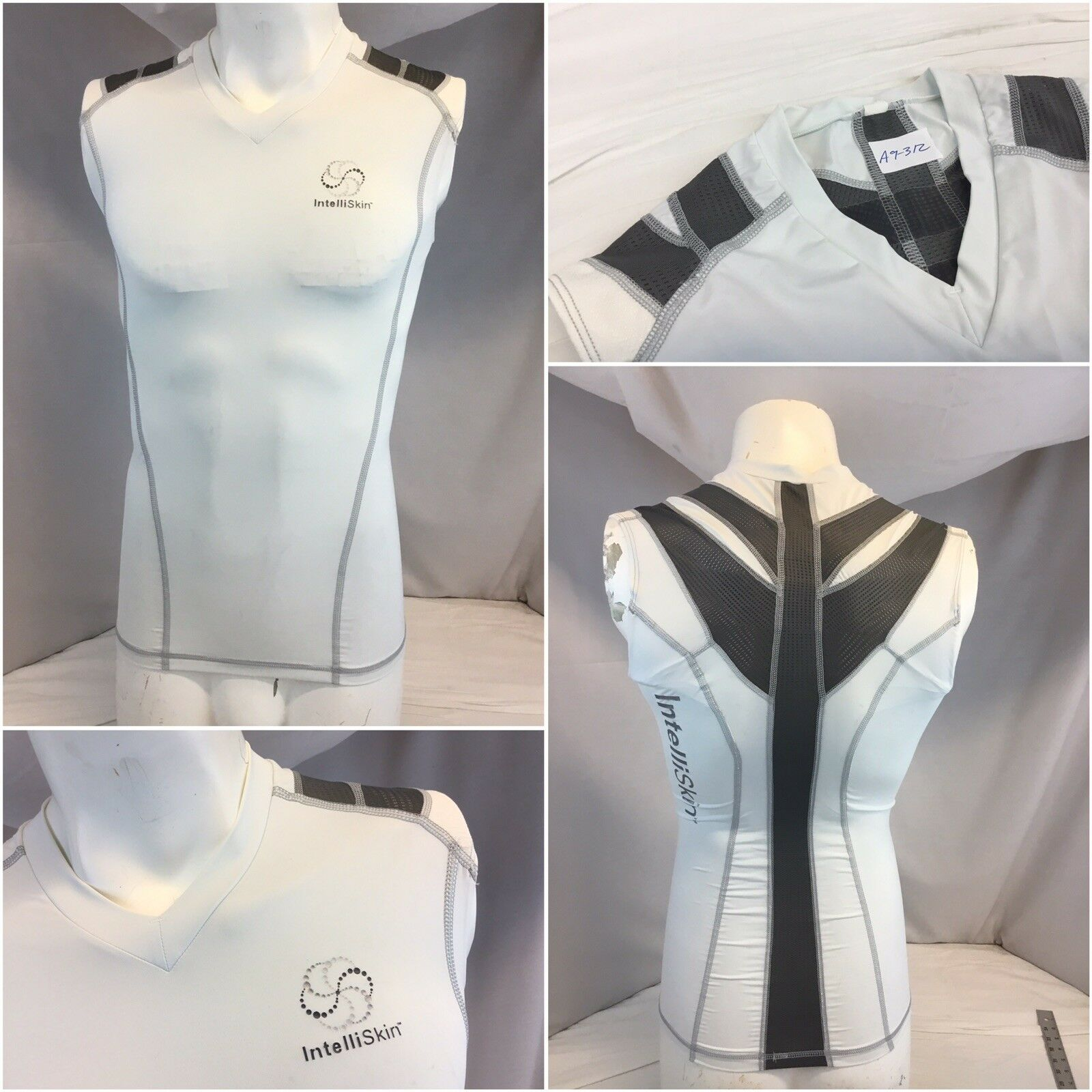 ItelliSkin Compression Shirt S Men White Sleeveless No Flaws  YGI A9-312