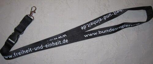 Einheit Schlüsselband Lanyard NEU Bundesregierung Freiheit T83.1