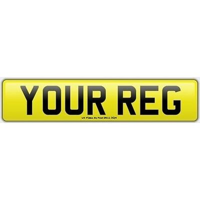 Rear Standard Number Plate 100% MOT Compliant. Caravan, Trailer, Car. FREE POST