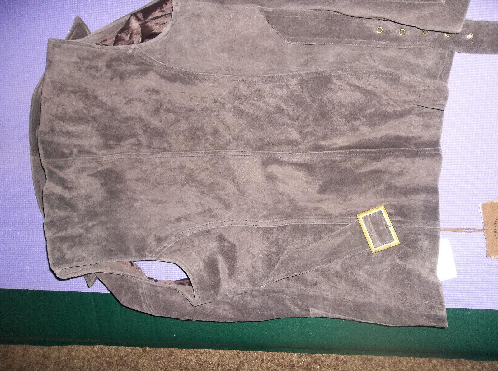 New washable suede vest brown size large bass pro shop
