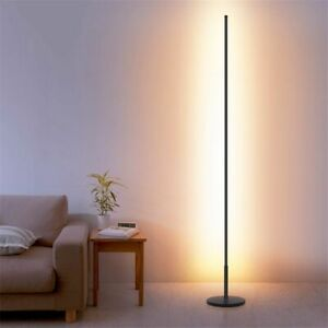Details about LED Floor Lamps Standing Lamp Living Room Nordic Led Black  White Aluminum Decor