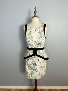 Portmans Womens Size 12 A - Line Layered Waist Sleeveless Midi Dress