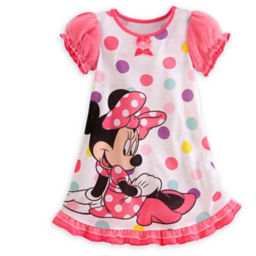 Kinder Mädchen Mickey Minnie Maus Mini Prinzessin Partykleid Tutu Karneval DE