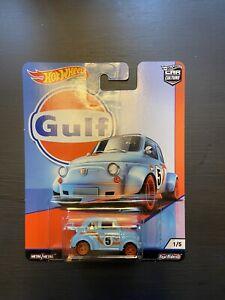 Hot Wheels 2019 Car Culture Gulf /'60s Fiat 500D Midificado 1//5