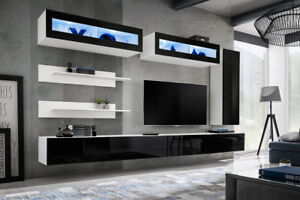 Details About Idea L2 Modern Wall Unit For Tv Entertainment Units Cabinets