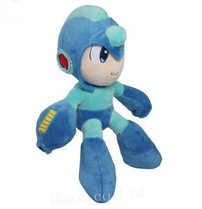 Serie-MegaMan-Rockman-Farci-Doux-Peluche-jouets-Poupee-Pour-Des-gamins-27cm