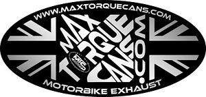 High Quality Motorbike Exhaust Sticker 3M foil printed Max Torque Cans badge