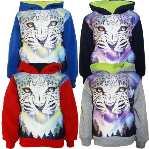 Kinder Sweat Jacke Shirt Pulli College Sweatshirt Freizeit Kapuze Shirt Jungen
