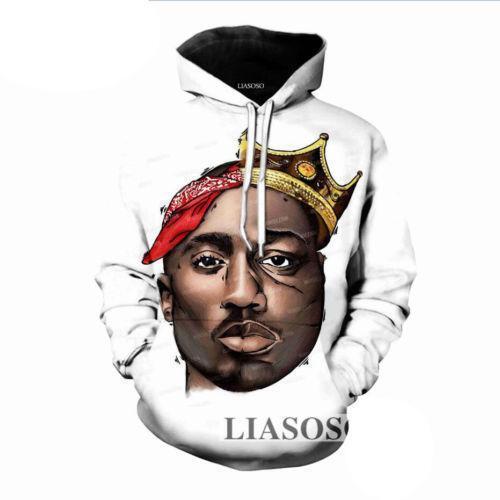 Women//Men Rapper Tupac 2pac Hip Hop Singer 3D Print Casual Hoodie Sweatshirt Top