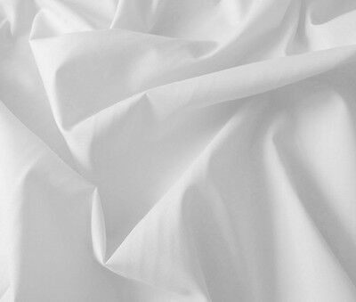 White polycotton ( bedding / fashion / upholstery ) by the meter 94cm width