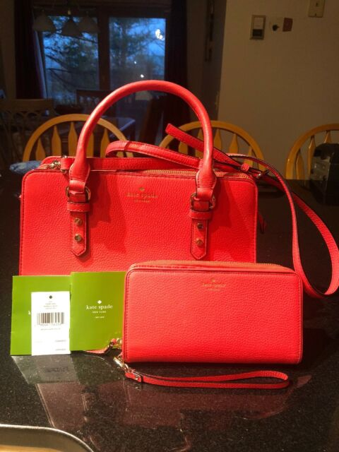 a4e09ac1fa Kate Spade Lise Mulberry Street Crabred Purse   matching full zip wallet  Used 1x