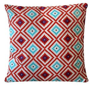 Multicolor-Plush-Cruz-Estampado-100-Sarga-Algodon-40-6cmX40-6cm-Funda-De-Cojin