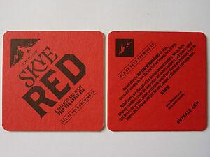Isle Of Skye Brewing Co. Red Beermat Coaster 1Z1Pwaf7-09115923-680136977