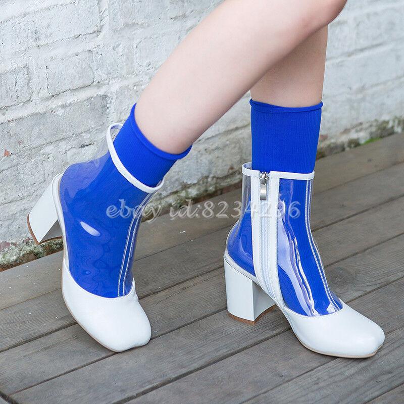 2018 PVC Herbest Stiefeletten Damen Blockabsatz PVC 2018 Transparent Boots Designer Boot 259400