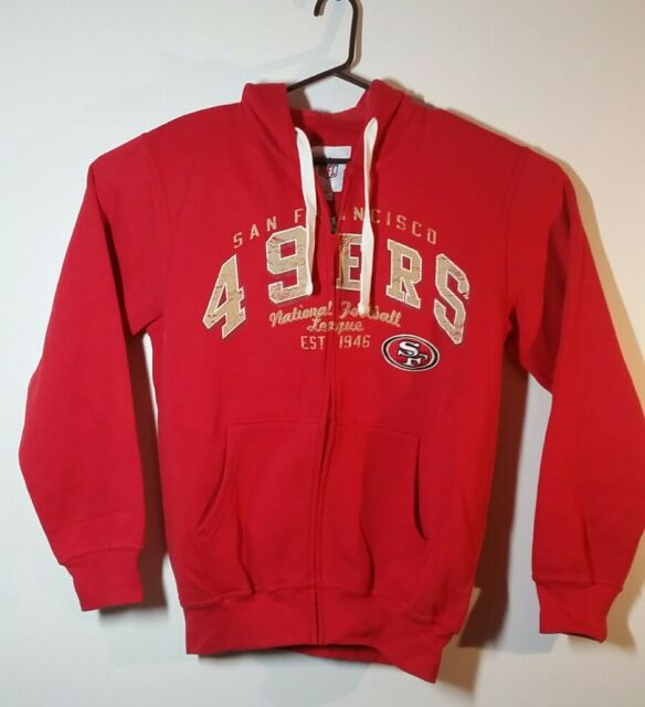 7c396212 San Francisco 49ers Hoodie Men's NFL Swingman Full Zip Sweatshirt Football  NEW
