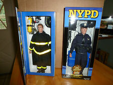 "REAL HEROES 9/11 MEMORIAL NYPD AND FDNY 12"" ACTION FIGURES"