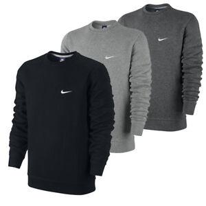 info for ad48d caf2a Details zu Nike Swoosh Club Fleece Crew-Neck Sweatshirt Pullover Herren  Sweatshirt Langarm