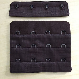 3 Rows of 4 Hooks Bra Body Form Corset Dark Brown Extension - USA Seller