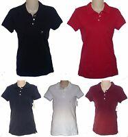 Womens Aeropostale Solid Uniform 3-placket Polo Shirt 5738