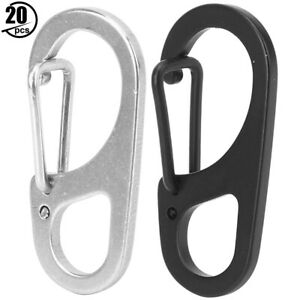 20x-Outdoor-Stainless-Steel-Keyring-Ring-Key-Chain-for-Climbing-Camping-W