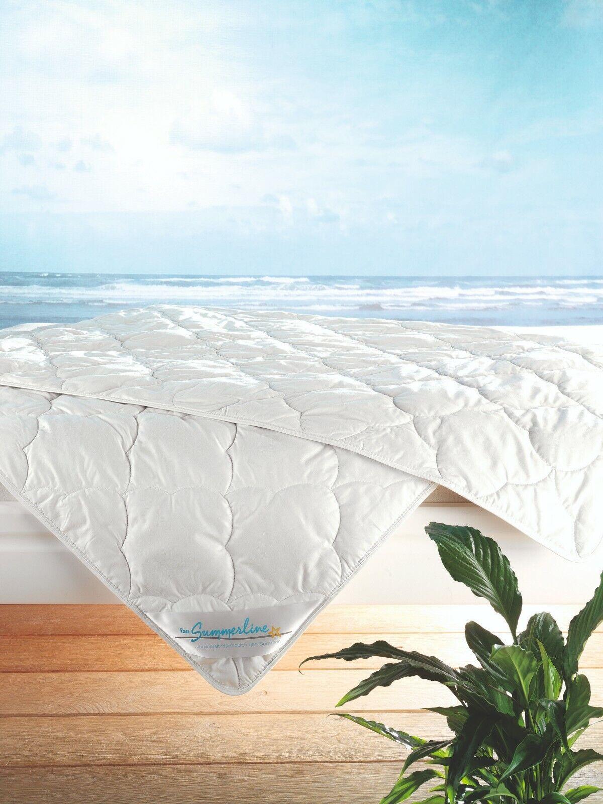 F.A.N Summerline kühle Sommerbettdecke 155x220cm Leinen Wildseide 100% Baumwolle