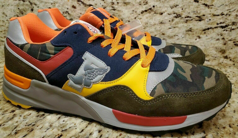 Mens Polo Ralph Lauren Trackstar 100 Sneakers Low Top Shoes Camo New