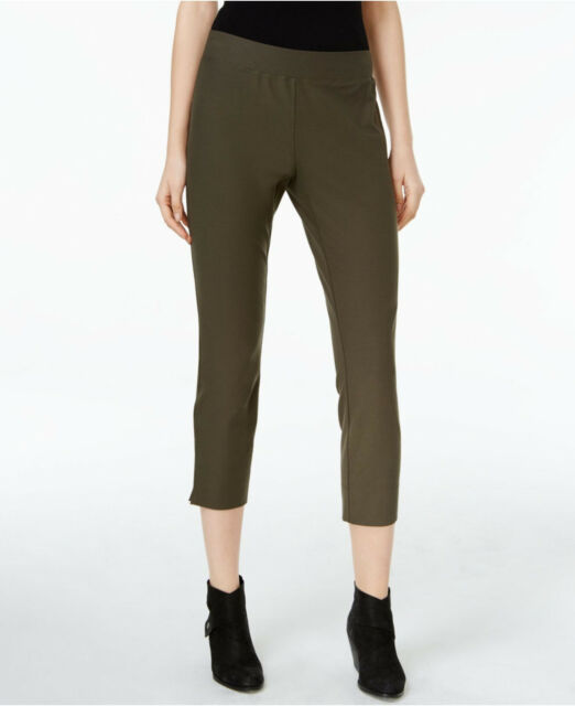 NWT Eileen Fisher Russet Slim Pull-On Ankle Pants SZ M $168