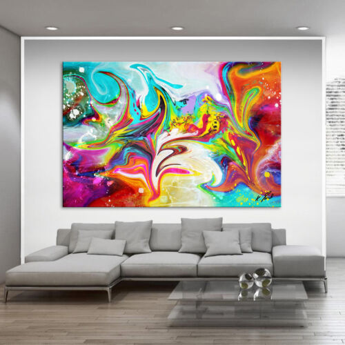 Abstract Wall Pictures Colorful Color Picture Canvas Art Picture Art Print XXL D1165