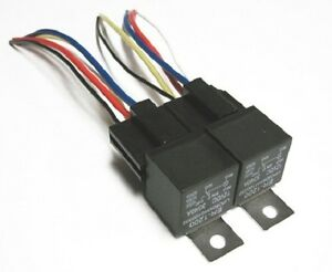 2pk 12v 40 amp relays spdt bosch style relay 5 wire. Black Bedroom Furniture Sets. Home Design Ideas