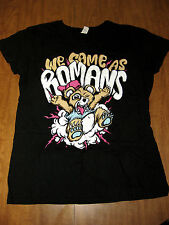 WE CAME AS ROMANS juniors XL tee Michigan metal T shirt Detroit emo teddy bear