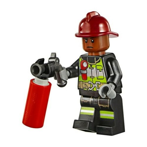 LEGO Super Heroes Firefighter Minifigure from 76128