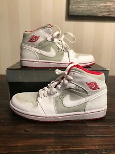 promo code ee09f f9d9a Details about 2009 NIKE AIR JORDAN I RETRO 1 HARE BUGS BUNNY GREY WHITE RED  OG 374454-011 SZ 8