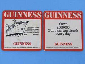 2 Bière Barre Dessous De Verre : Paquebot Flotteurs Sur Guinness Stout ~ St. Umqxwk1k-08012543-977749880