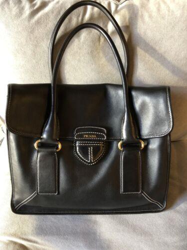 PRADA Calfskin Leather Satchel