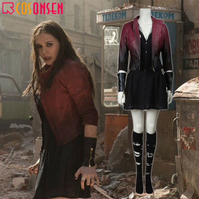 Avengers Age Of Ultron Scarlet Witch Wanda Maximoff Cosplay Halloween Costume