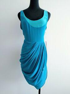 BNWT-new-Camilla-And-Marc-Blue-Deka-Frock-Drape-Party-Cocktail-Dress-AU-6-8-XS