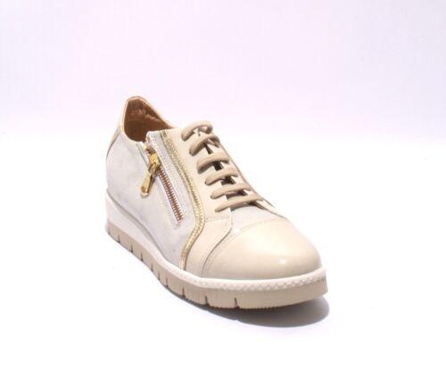 Sneaker Suede Patent Leather 738 Grossi Shoes Beige Gold 41 11 Us Zip Luca gqACa8