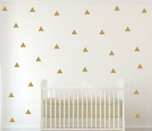 Image Is Loading 150 Polka Dots Gold Vinyl Triangle Wall Decals
