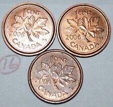 Canada 2006, 2006L Steel, 2006L Zinc 1 Cent  One Canadian Penny Coin Lot #16