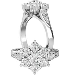 0.68 Ct Round Cut Moissanite Engagement Superb Rings 18K Real White Gold Size 7