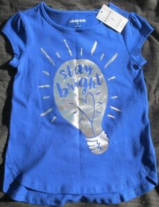 NEW-19-50-Land-039-s-End-Child-T-Shirt-034-Stay-Bright-034-Size-S-4-Boys-Girls-Childrens