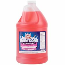 8 Case 1 Gallon Pink Lemonade Snow Cone Concession Stand Drink Beverage Syrup