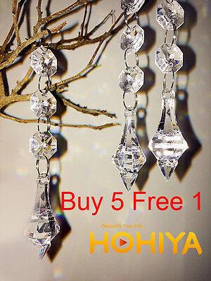 30 Acrylic Crystal sparkle Bead Garland Hanging Chandelier Decor Wedding Supplie