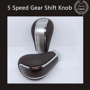 5-Speed-PU-Leather-Manual-Car-Auto-Gear-Shift-Knob-Shifter-Stick-Universal-Lever