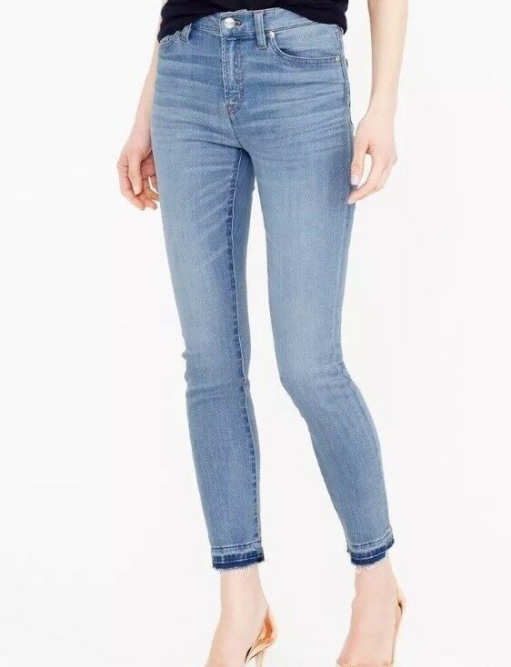 SOLD OUT  J crew Lookout High Rise Crop Jeans in Boater Wash. 27, Retail
